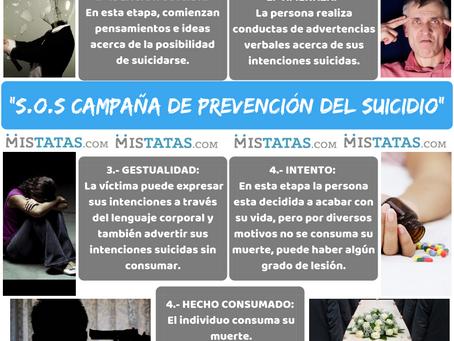 """""""S.O.S CAMPAÑA DE PREVENCIÓN DEL SUICIDIO"""""""