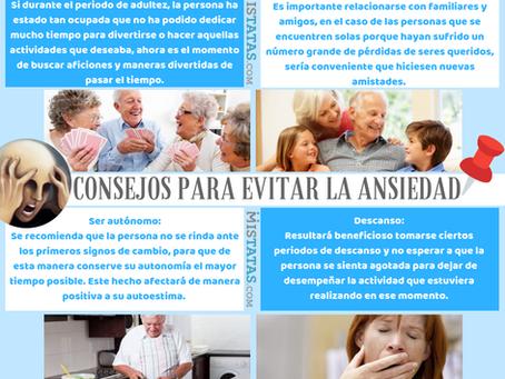 CONSEJOS PARA EVITAR LA ANSIEDAD EN ADULTOS MAYORES