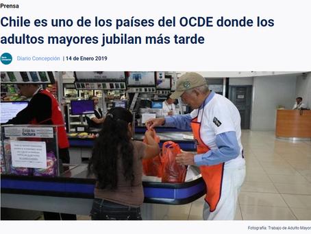 NOTICIA - CHILE ES UNO DE LOS PAÍSES DEL OCDE DONDE LOS ADULTOS MAYORES JUBILAN MÁS TARDE