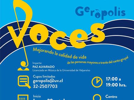 29 DE OCTUBRE - TALLER ''VOCES GERÓPOLIS''