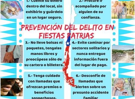 PREVENCIÓN DEL DELITO EN FIESTAS PATRIAS