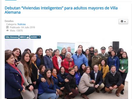 """Debutan """"Viviendas Inteligentes"""" para adultos mayores de Villa Alemana."""