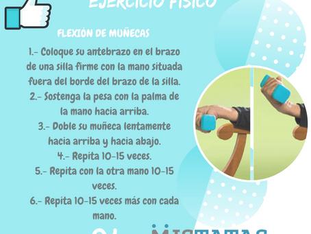 EJERCICIO FÍSICO - FLEXIÓN DE MUÑECAS