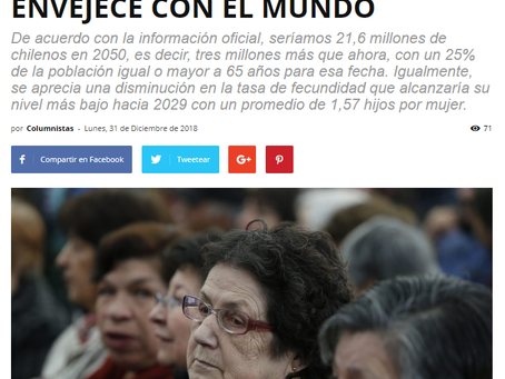 NOTICIA - DESAFÍOS PARA UN CHILE QUE ENVEJECE CON EL MUNDO