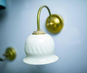 גוף תאורה מפורצלן, אהיל מנורה מקרמיקה בעבודת יד
