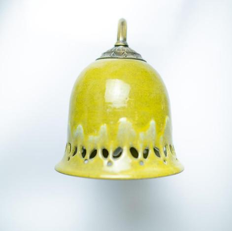 גוף תאורה מקרמיקה, אהיל מנורה צבעוני, מקרמיקה עבודת יד
