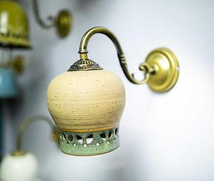 גוף תאורה כפרי מקרמיקה, אהיל מנורה מעוצב מקרמיקה עבודת יד