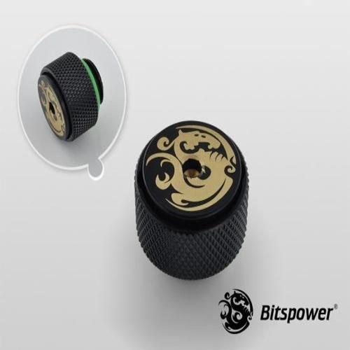 Bitspower G1/4″ Matt Black AIR-Exhaust Fitting (BP-MBETAIR)