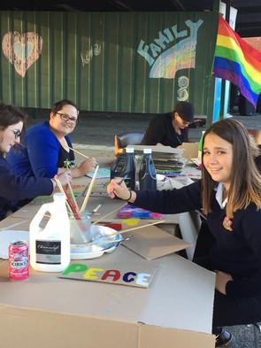 We made rainbow wings!