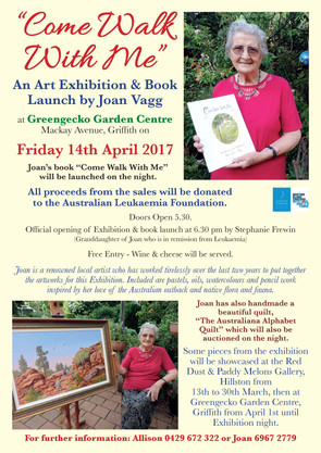 Come Walk With Me - art exhibition and book launch
