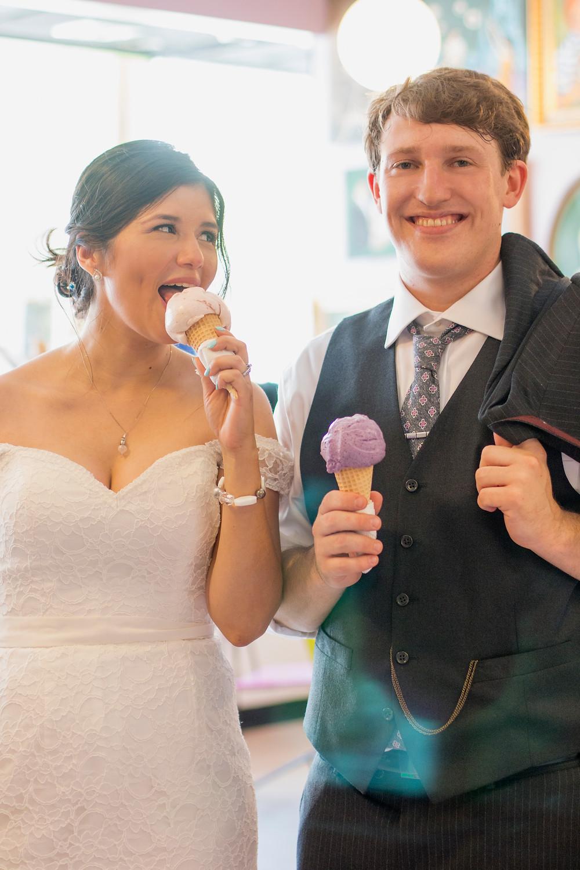 Wedding Photography Columbia MO | KatFour Photo | Sparkys Homemade Ice Cream