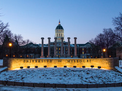 Mizzou Columns Winter | Fine Art
