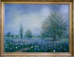 "Fields of Irises, 36"" x 48"""