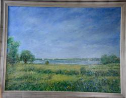 """Meadow in Riverside, 36"""" x 48"""""""
