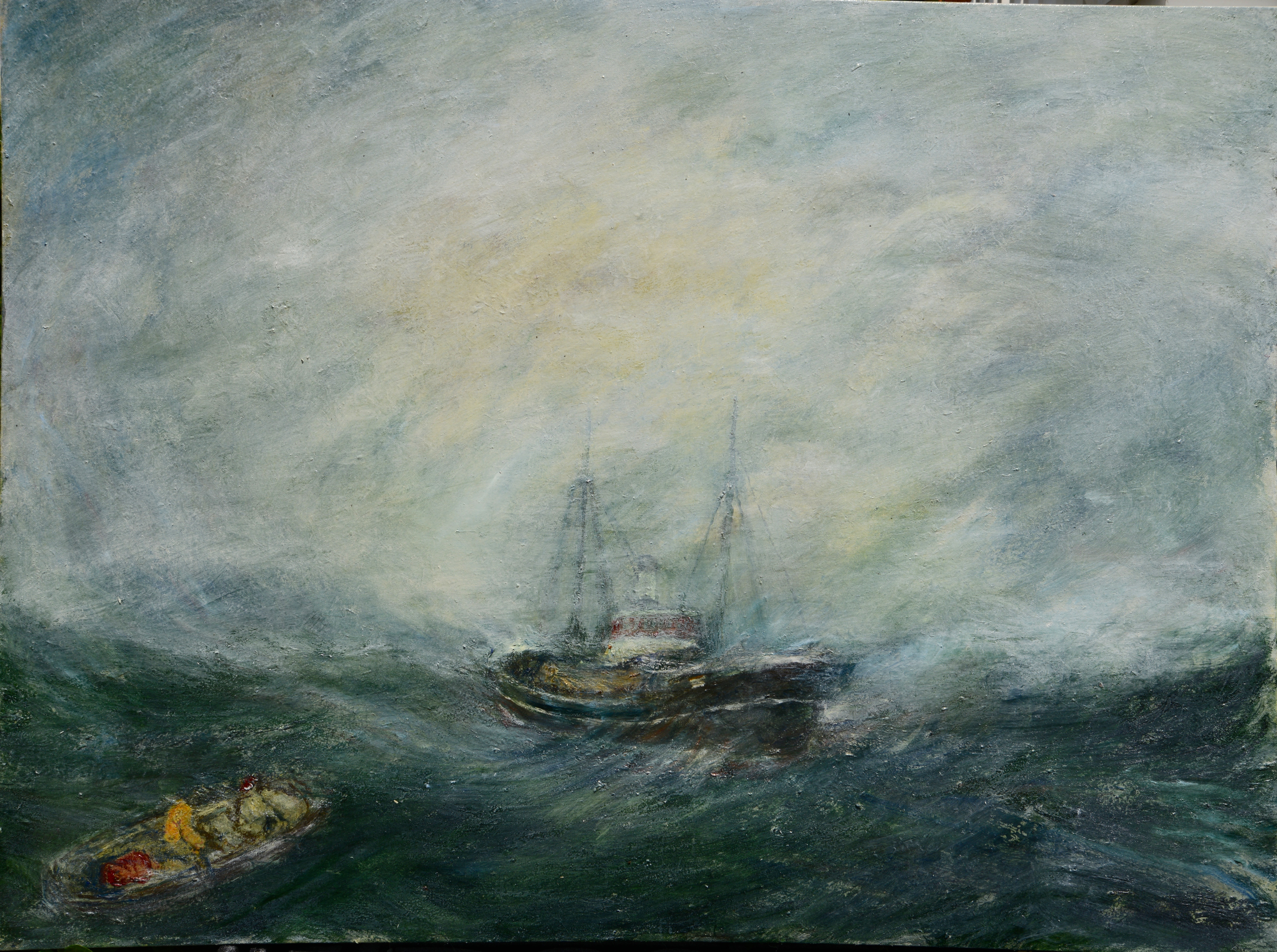 """Ahoy There, 46"""" x 48"""""""