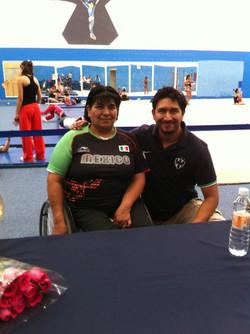 Con la medallista olímpica Tere