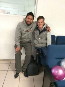 Con Gustavo Sánchez Multimedallista Olímpico de Natación
