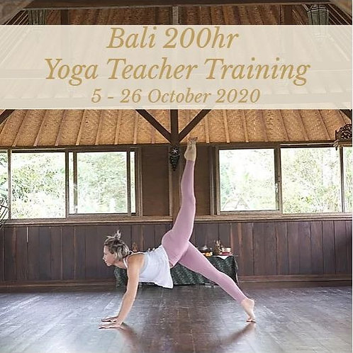 Bali - 200hr Yoga Teacher Training - 5-26 October 2020