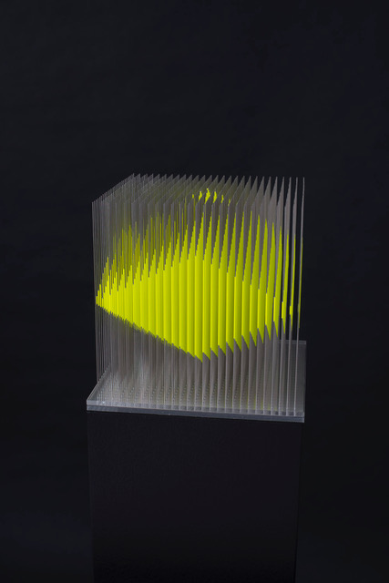 Steel with acrylic, and LED; 23 x 23 x 134 cm