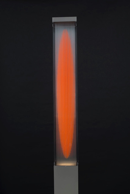 Streetch nylon & acrylic, 16 x 16 x 182 cm. Unique Piece