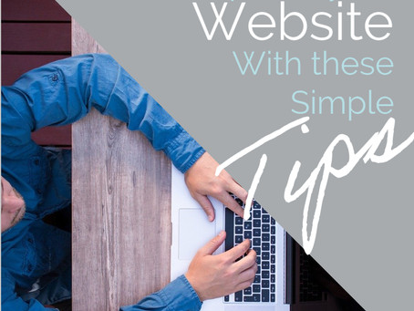 Improve your Website Yourself with These Simple Tips