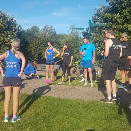 Boxfit Fly Through Caldecotte for 10K Event