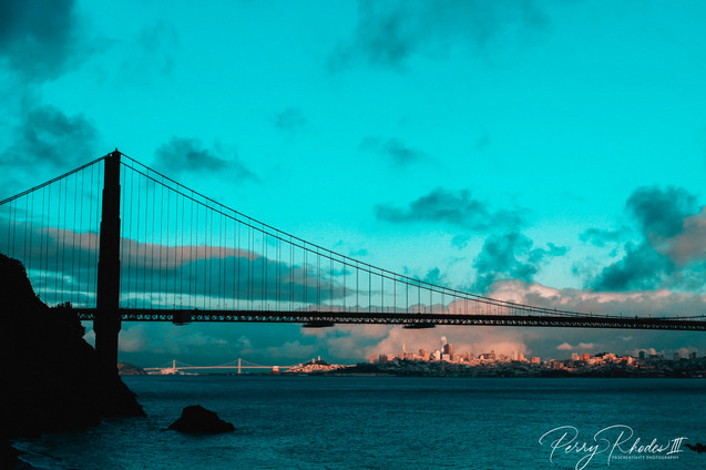 Glorious City between Bridges
