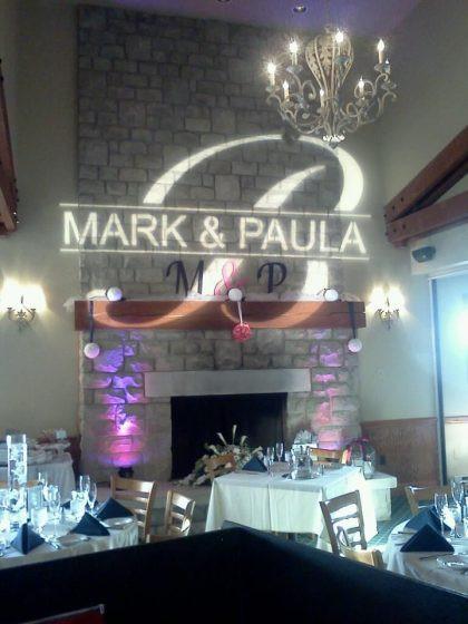 Mark & Paula projection de gobo