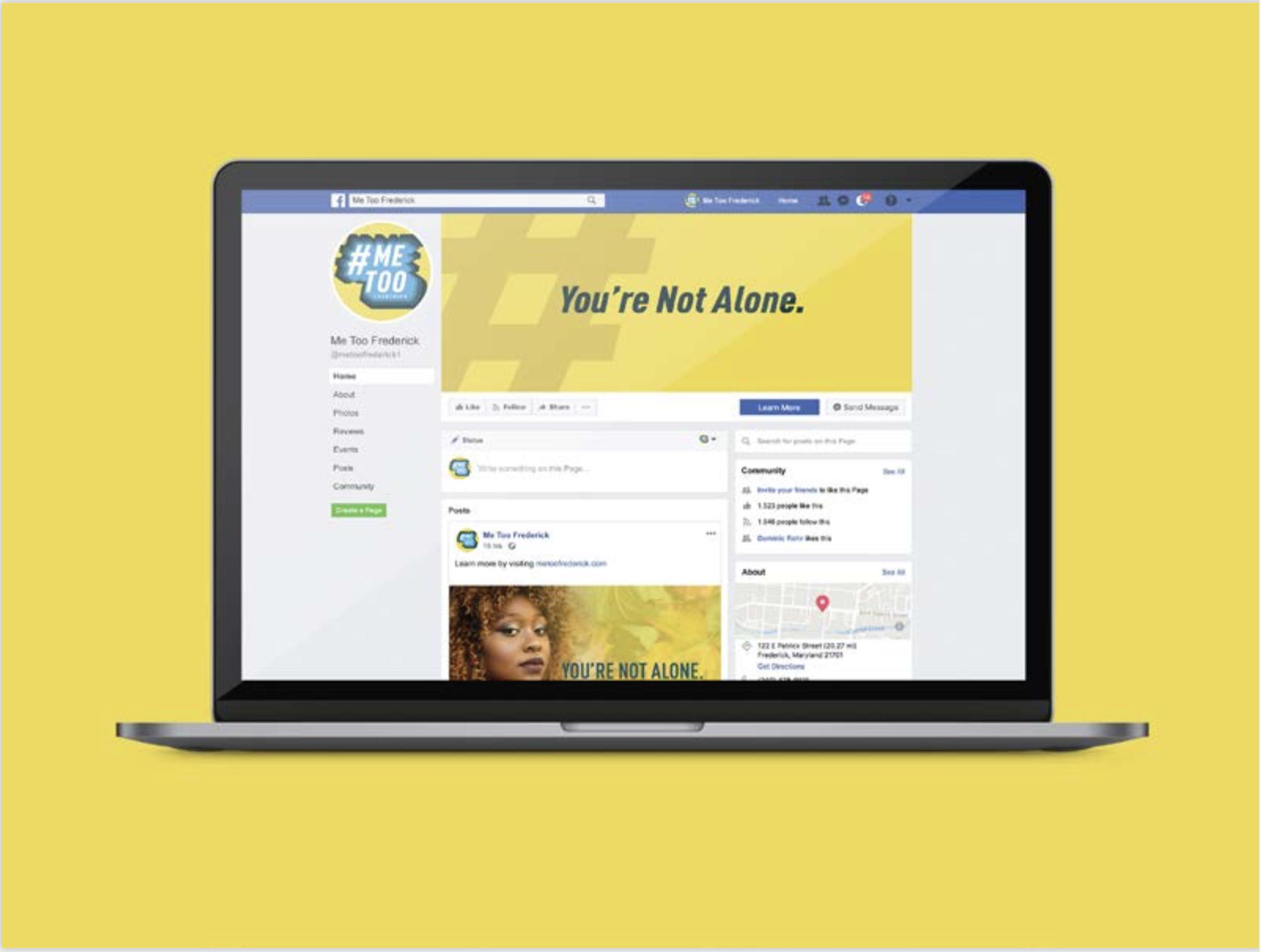 #MeTooFrederick Facebook (Desktop)