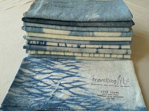 Linen Travel Towel - a wrap and a towel - indigo