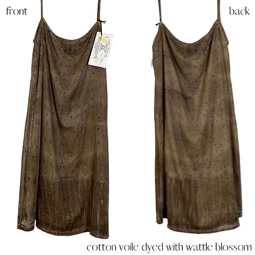 'feel at ease' cotton voile slip -one of a kind.