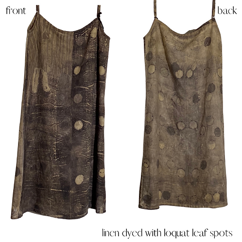 'feel at ease' linen slip - one of a kind.