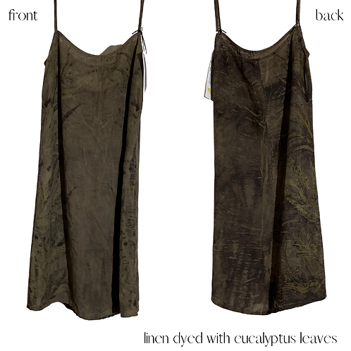 'feel at ease' linen slip - one of a kind