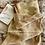 Thumbnail: Pair of crepe de chine silk pillowcases - rose leaves