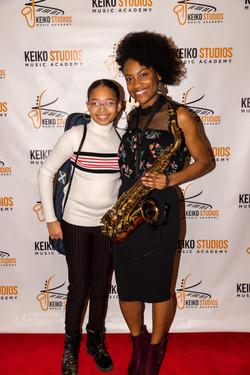 Ashley Keiko and student.
