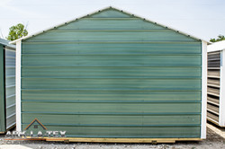 Cheapo Metal Shed - Green - Back
