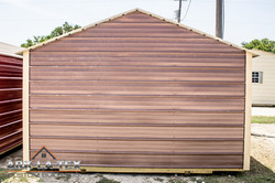 Cheapo Metal Shed - Brown - Back