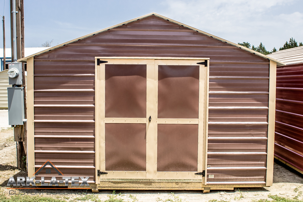 Cheapo Metal Shed - Brown - Front