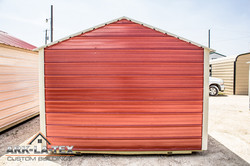 Cheapo Metal Shed - Red - Back