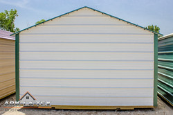 Cheapo Metal Shed - White - Back