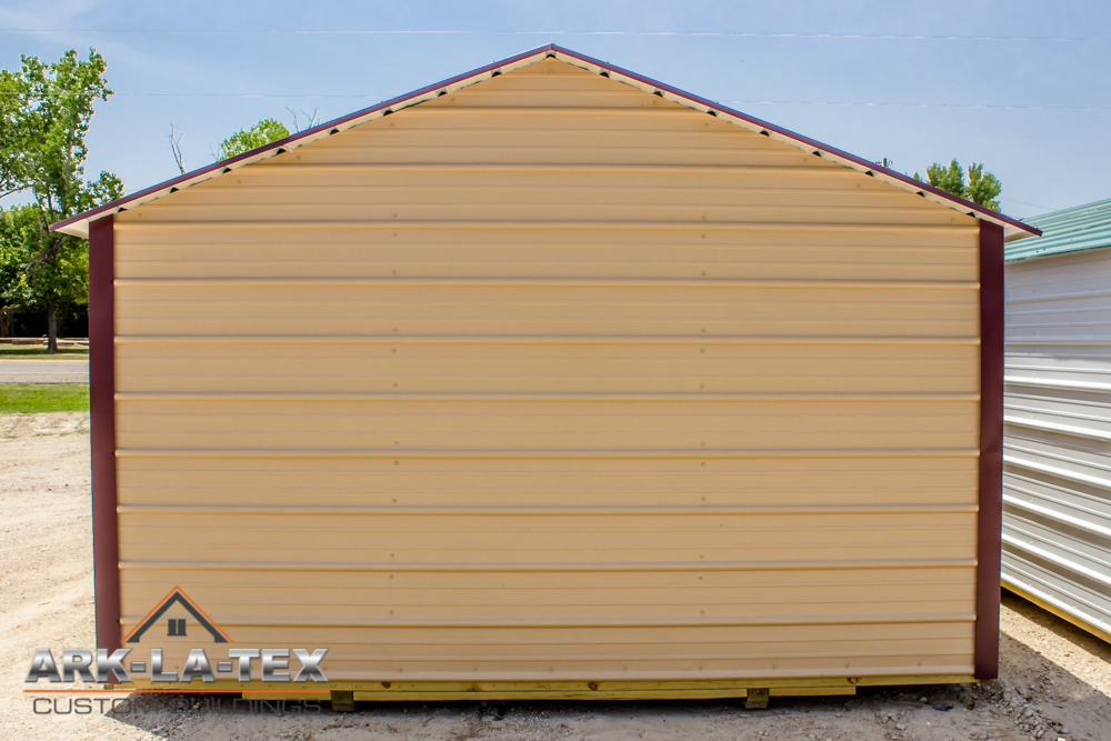 Cheapo Metal Shed - Tan - Back