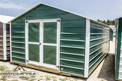 Cheapo Metal Shed - Green - Side