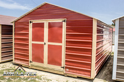 Cheapo Metal Shed - Red - Side