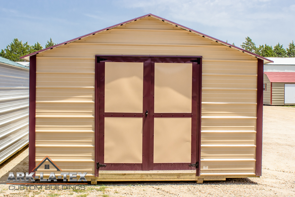 Cheapo Metal Shed - Tan - Front