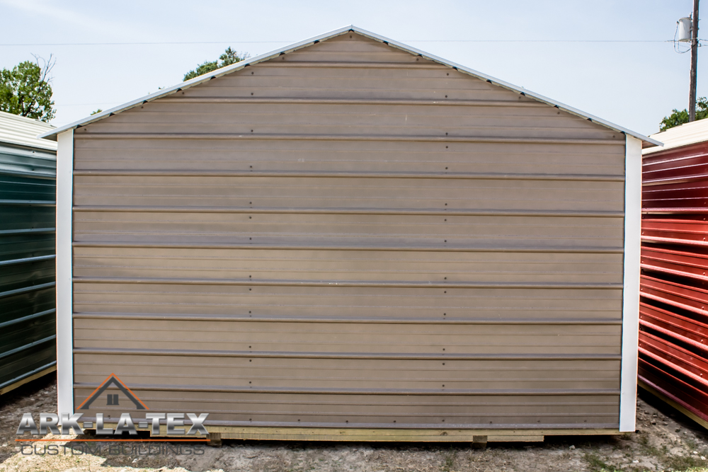 Cheapo Metal Shed - Dark Brn - Back