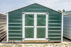 Cheapo Metal Shed - Green - Front