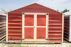 Cheapo Metal Shed - Red - Front
