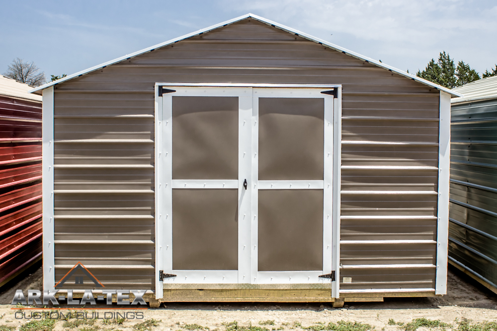 Cheapo Metal Shed - Dark Brn - Front