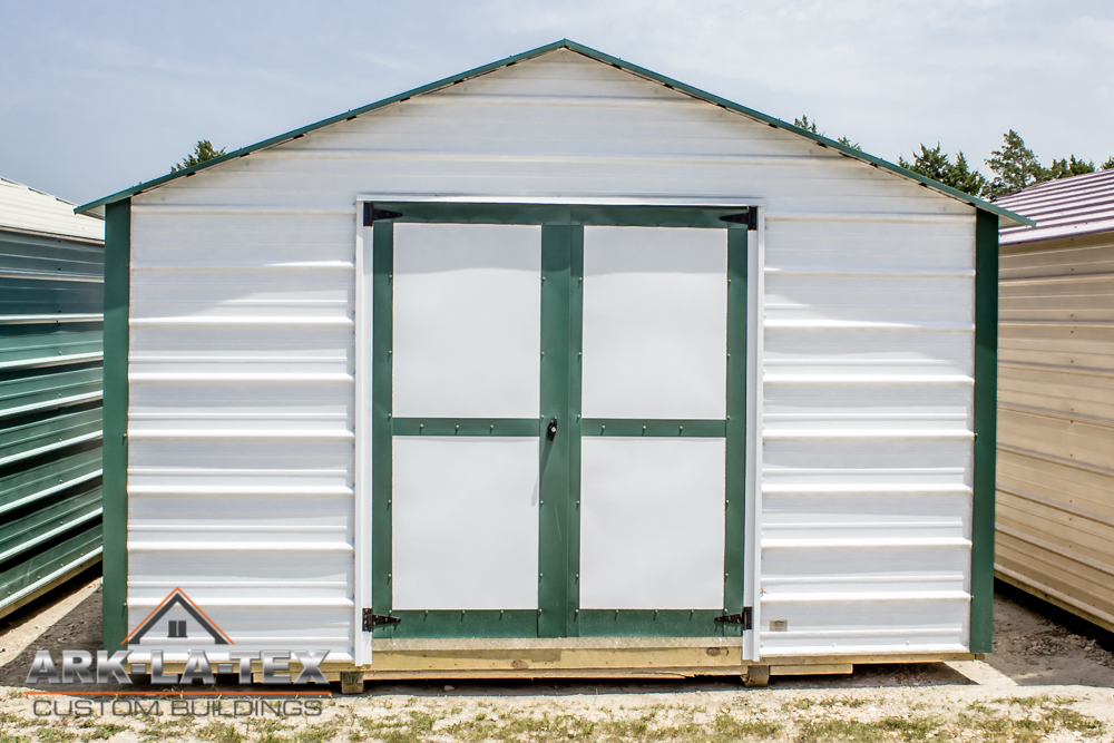 Cheapo Metal Shed - White - Front