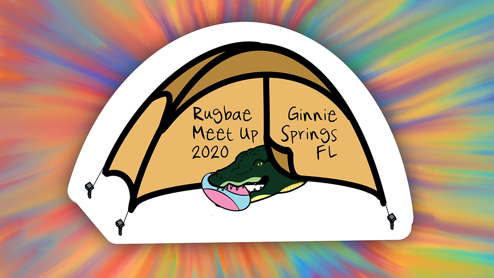 Ginnie Springs Rugbae Sticker